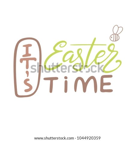 Easter Lettering Template Vector Hand Drawn Stock Vector (2018