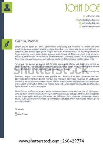 Resume Cover Letter Stock Images, Royalty-Free Images \ Vectors - cover letter designs