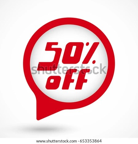 Sale Tag 50 Percent Off Template Stock Vector 678376048 - Shutterstock - sale tag template