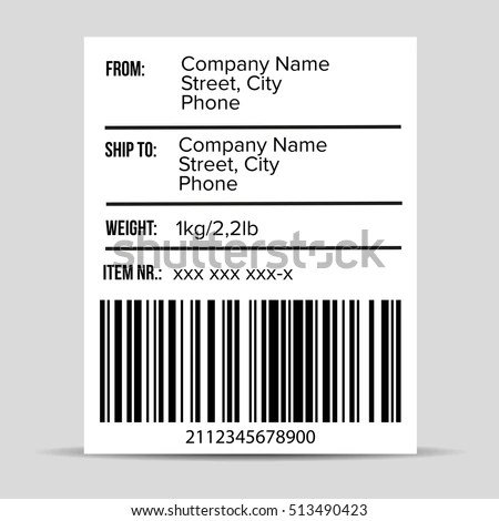 Shipping Barcode Label Vector Stock Vector HD (Royalty Free