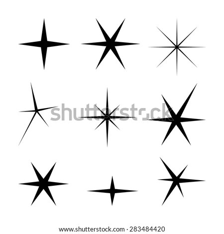3d Geometric Shapes Wallpaper White Retro Stars 7 Retro Clip Art Stock Vector 57657142