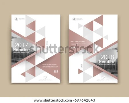 Abstract Binder Art White A 4 Brochure Stock Vector (2018) 697642843