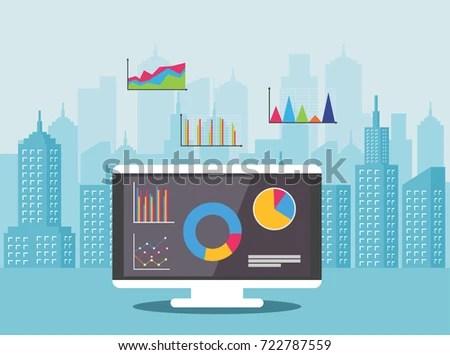 Concept Real Estate Market Analysis Financial Stock Vector 722787559