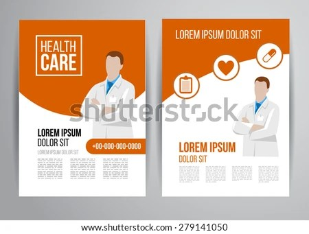 Vector Health Care Brochure Clinic Doctors Stock Vector 279141074 - healthcare brochure