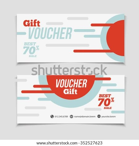 Abstract Gift Voucher Coupon Design Template Stock Vector 352527623