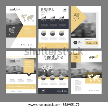Modern Brochure Design Template Vector Set Stock Photo (Photo