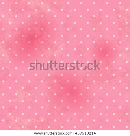 Polka Dots Pink Seamless Pattern Vintage Stock Vector 452511073 - dot paper template