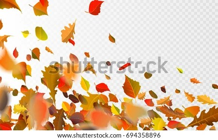 Autumn Leaves Falling Hd Wallpaper Stock Vector Illustration Autumn Falling Leaves Stock