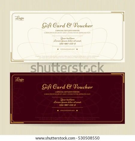 Elegant Gift Voucher Gift Card Template Stock Vector (2018 - gift card template