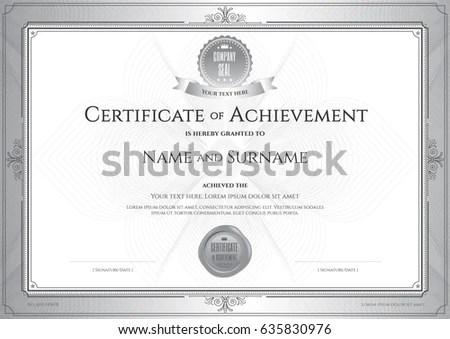 Certificate Achievement Template Award Ribbon On Stock Vector HD