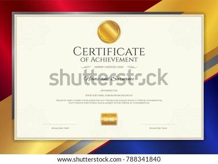 Luxury Certificate Template Elegant Border Frame Stock Vector - graduation border templates free
