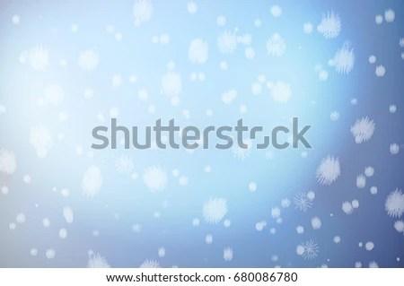 Winter Christmas Plain Simple Blue Background Stock Illustration
