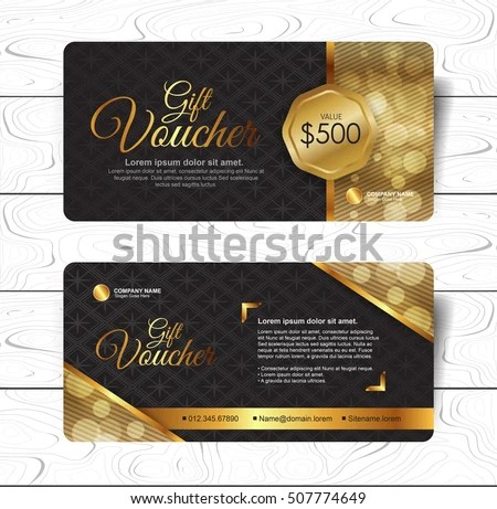 Gift Voucher Template Luxury Pattern Restaurant Voucher Stock Vector - Lunch Voucher Template