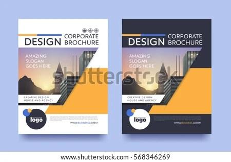 Poster Flyer Pamphlet Brochure Cover Design Stock Vector 568346269 - pamphlet layout template