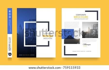 Poster Flyer Pamphlet Brochure Cover Design Stock Vector 759115933 - pamphlet layout template