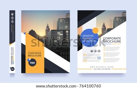 Poster Flyer Pamphlet Brochure Cover Design Stock Vector (2018 - pamphlet layout template