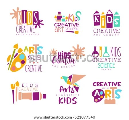 Kids Creative Class Template Promotional Logo Stock Vector 521077540 - class template