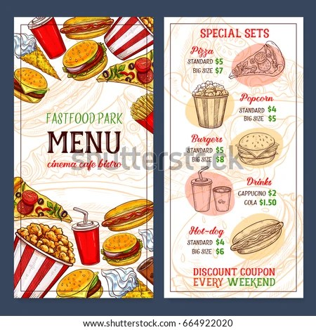 Fast Food Menu Template Design Prices Stock Vector HD (Royalty Free - food menu template