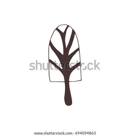 Vector Hand Drawn Isolated Element Winter Stock Vector 694094863