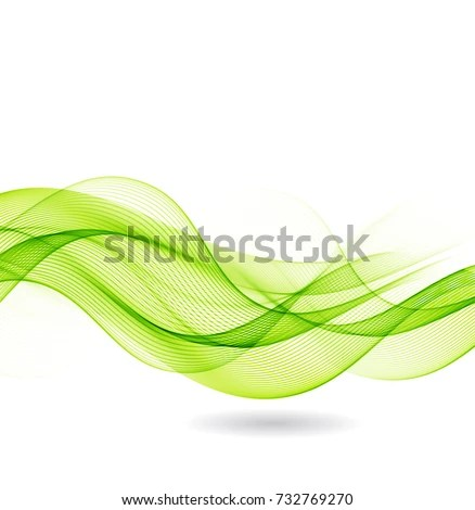 Abstract Background Green Waves Stock Vector (Royalty Free