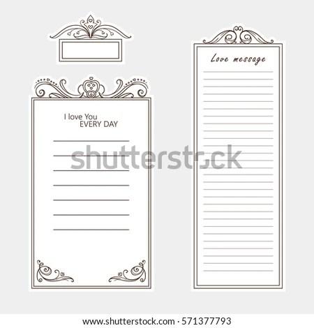 Vector Set Paper Note Bookmark Sticker Stock Vector 571377793