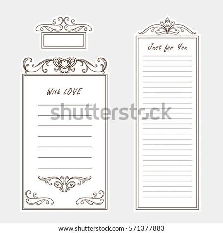 Vector Set Paper Note Bookmark Sticker Stock Vector 571377883