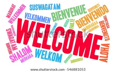 International Welcome Word Cloud Each Word Stock Vector (2018