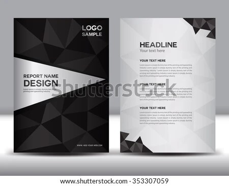 Black Annual Report Vector Illustration Cover Stock Vector HD - free design flyer templates