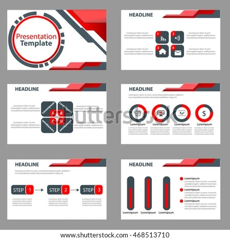 Red Black Presentation Template Infographic Elements Stock Photo - Presentations Template