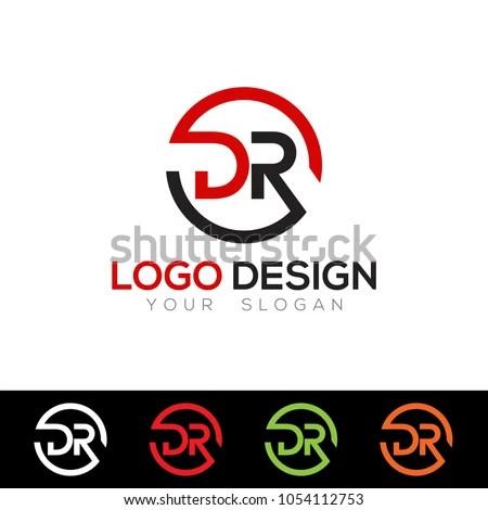 DR Letter Logo Design Template Vector Stock Vector (Royalty Free