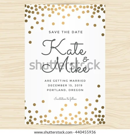 Save Date Wedding Invitation Card Template Stock Vector HD (Royalty