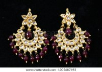 Beaded Earrings Stock Images, Royalty