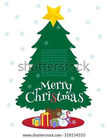 Christmas Tree Presents Under It Template Stock Vector 318154310 - christmas tree printables