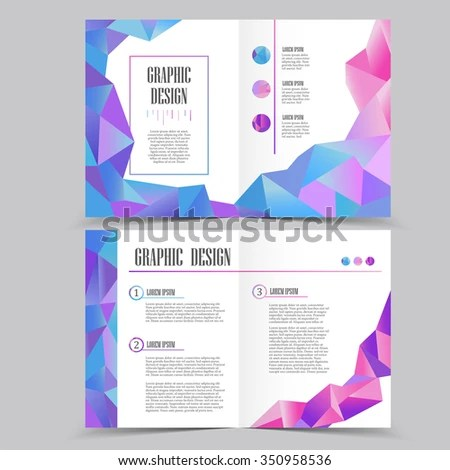 Beautiful Halffold Brochure Template Design Crystal Stock Vector - half fold brochure template