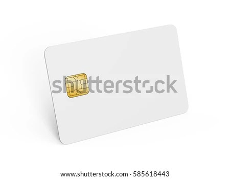 Blank Credit Card Template Empty Chip Stock Illustration 585618443 - printable credit card template
