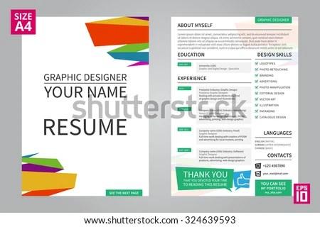 Vector Minimalist Cv Resume Template Graphic Stock Vector 324639593