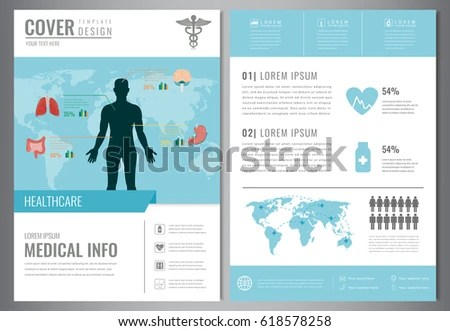 Medical Brochure Design Template Healthcare Medical Stock Vector