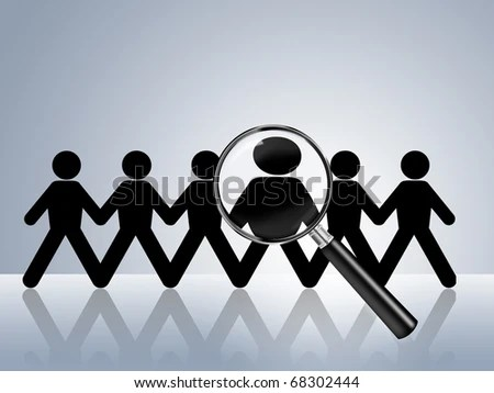 Paper Chain Figures Wanted Employer Job Stock Illustration 68302444 - how to find a head hunter