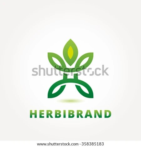 Abstract Green Leaf Logo Design Template Stock Vector 358385183