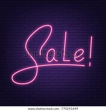 Sale Neon Sign Sale Neon Lettering Stock Vector 770241649 - Shutterstock - neon lettering