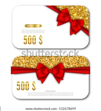 Illustration Gift Card Template Golden Dust Stock Illustration - gift card templates