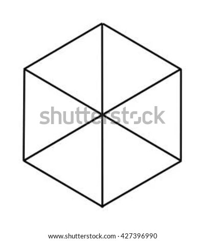 Hexagon 3 D Cube Stock Photo (Photo, Vector, Illustration) 427396990