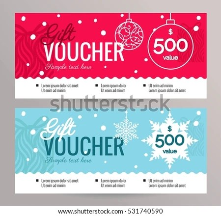 Christmas Gift Voucher Coupon Discount Gift Stock Vector (Royalty - christmas certificate template