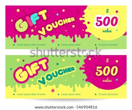 Set Colorful Gift Vouches Kids Baby Stock Vector HD (Royalty Free
