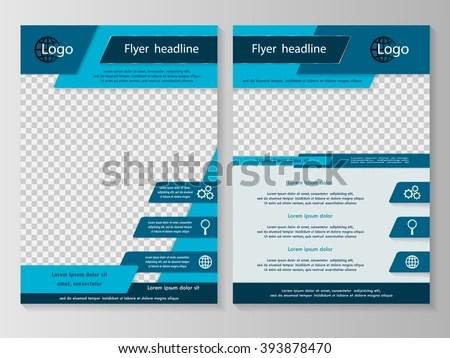 Vector Flyer Template Design Business Brochure Stock Vector
