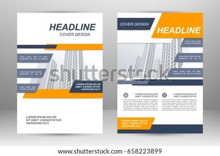 Vector Flyer Template Layout Design Business Stock Vector 658223899 - flyer template
