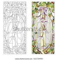 Stained Glass Templates Round Elements Stained Stock ...