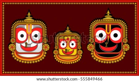 Krishna 3d Wallpaper Download Lord Jagannath Krishna Puri Odisha Hindu Stock Vector