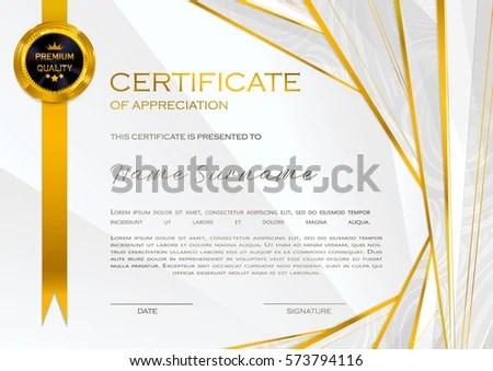 Qualification Certificate Appreciation Female Design Halftone Stock