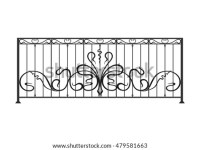 Wrought Iron Balcony Fence Stock Vector (Royalty Free